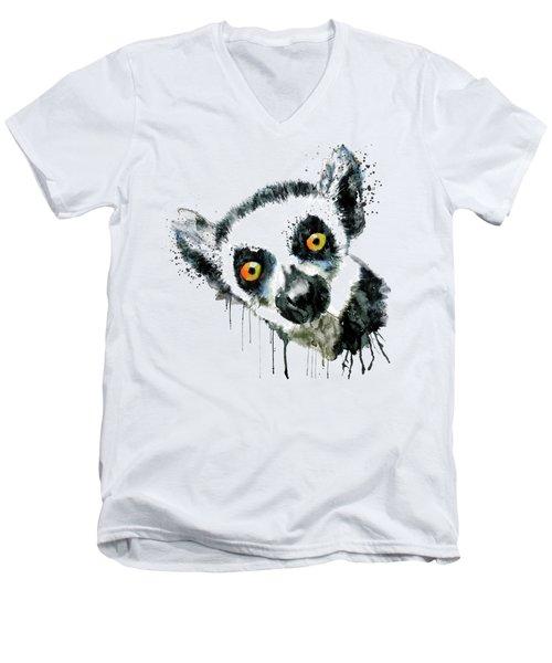 Lemur Head  Men's V-Neck T-Shirt