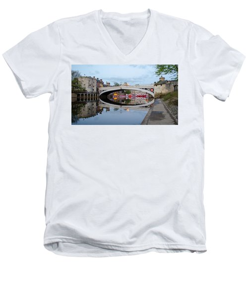 Lendal Bridge Reflection  Men's V-Neck T-Shirt