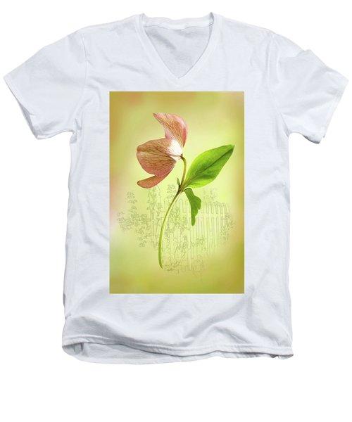 Lenton Rose 1 Men's V-Neck T-Shirt