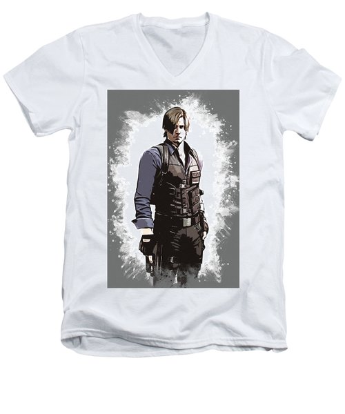 Leon S. Kennedy Men's V-Neck T-Shirt