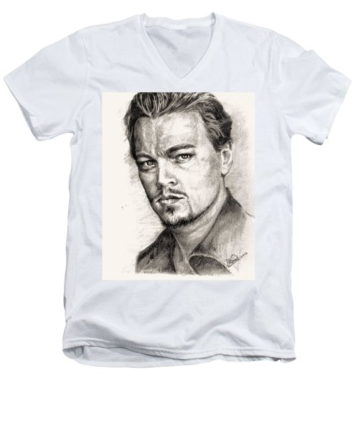 Leonardo Dicaprio Portrait Nr.2 Men's V-Neck T-Shirt