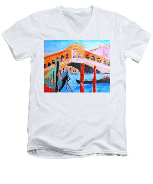 Leonardo Festival Of Venice Men's V-Neck T-Shirt