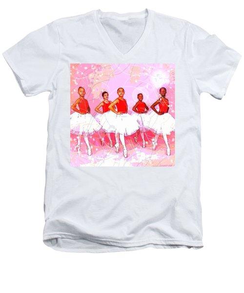 Les Danseurs Noirs Men's V-Neck T-Shirt