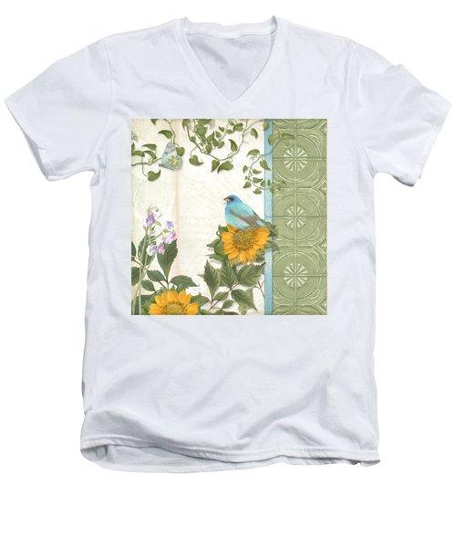 Les Magnifiques Fleurs Iv - Secret Garden Men's V-Neck T-Shirt by Audrey Jeanne Roberts