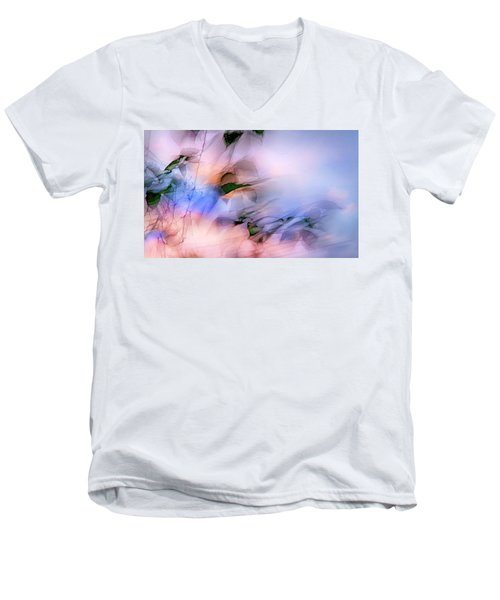 Let The Winds Of The Heavens Dance Men's V-Neck T-Shirt by Theresa Tahara