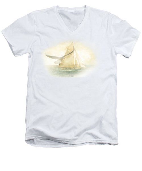 Let Your Spirit Soar Men's V-Neck T-Shirt by Chris Armytage