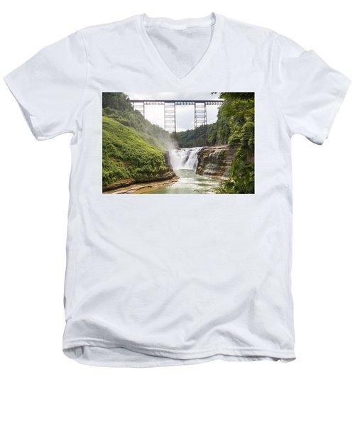 Letchworth Upper Falls Men's V-Neck T-Shirt