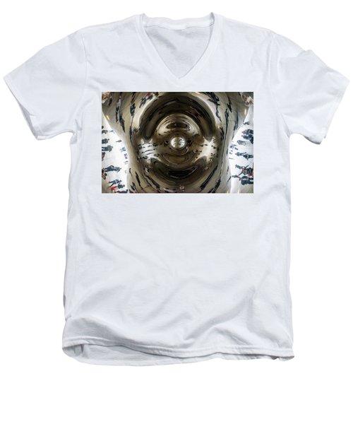 Let's Do The Time Warp Again Men's V-Neck T-Shirt by Randy Scherkenbach
