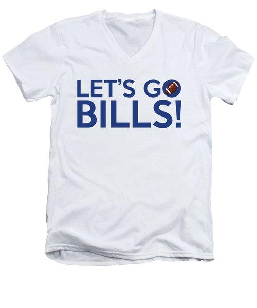 Let's Go Bills Men's V-Neck T-Shirt