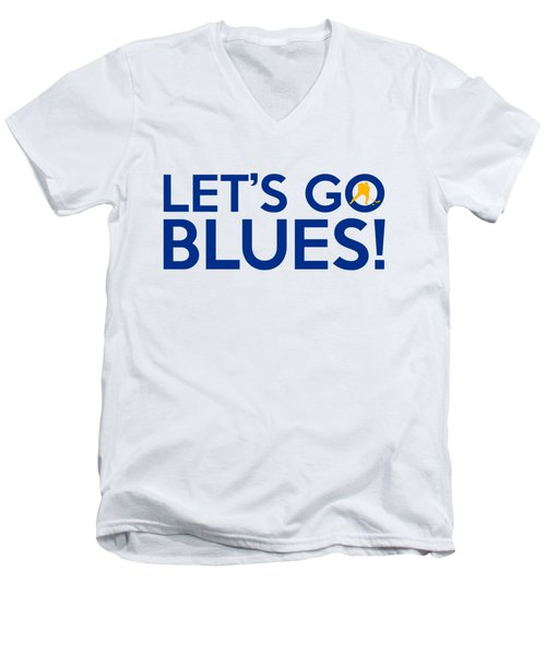 Let's Go Blues Men's V-Neck T-Shirt