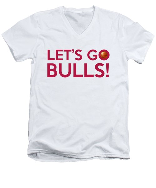 Let's Go Bulls Men's V-Neck T-Shirt by Florian Rodarte