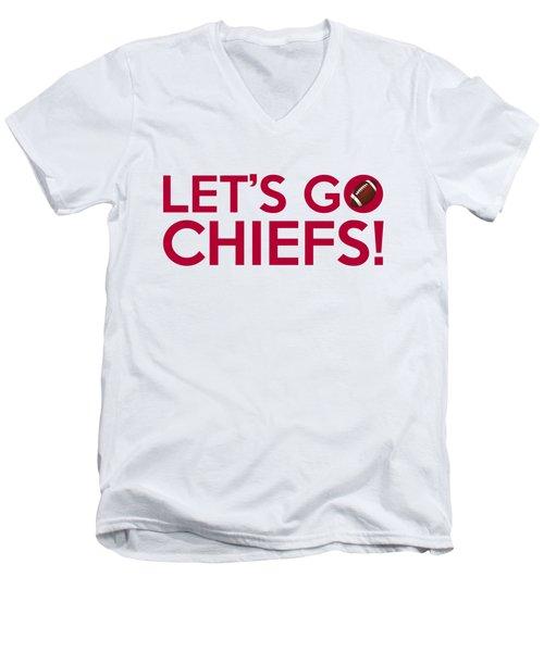 Let's Go Chiefs Men's V-Neck T-Shirt