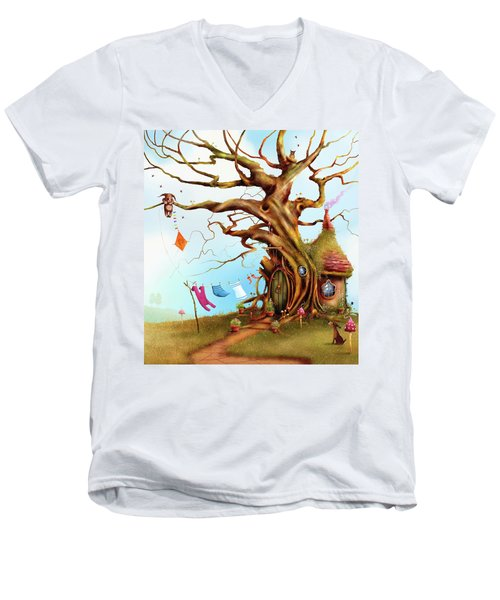 Let's Go Fly A Kite Men's V-Neck T-Shirt