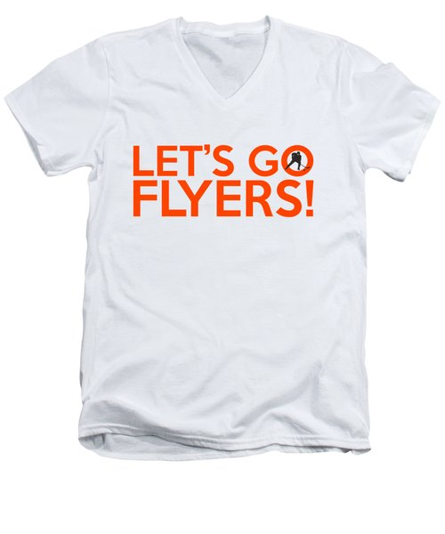 Let's Go Flyers Men's V-Neck T-Shirt