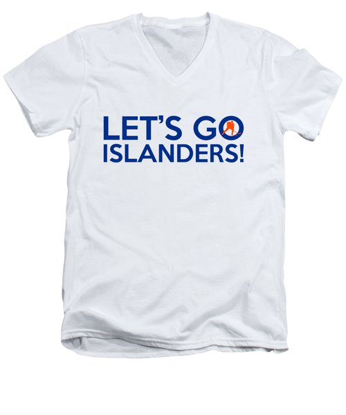 Let's Go Islanders Men's V-Neck T-Shirt