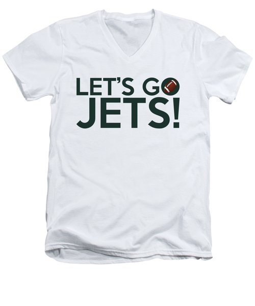 Let's Go Jets Men's V-Neck T-Shirt