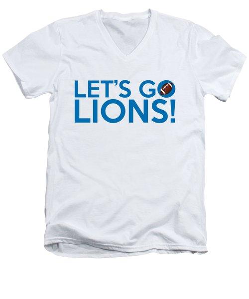 Let's Go Lions Men's V-Neck T-Shirt