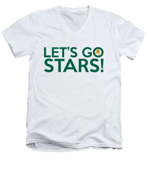 Let's Go Stars Men's V-Neck T-Shirt