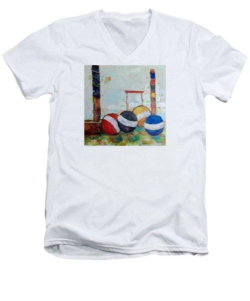 Let's Play Croquet Men's V-Neck T-Shirt