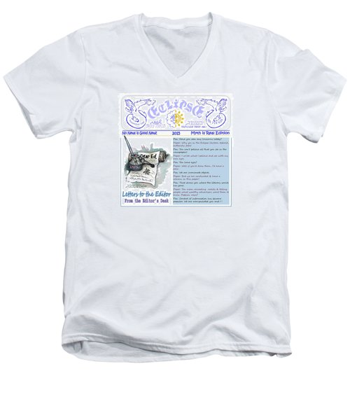 Real Fake News Letters To The Editor Men's V-Neck T-Shirt