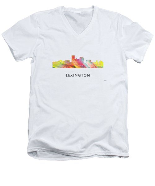 Lexington Kentucky Skyline Men's V-Neck T-Shirt