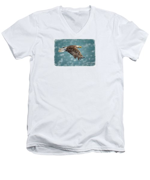 Liberty Men's V-Neck T-Shirt by Alice Cahill