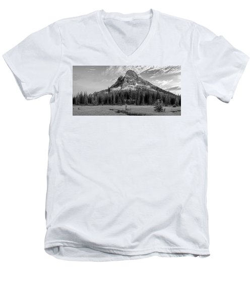 Liberty Mountain At Sunset Men's V-Neck T-Shirt by Jon Glaser