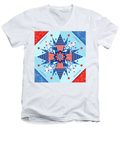 Liberty Quilt Men's V-Neck T-Shirt
