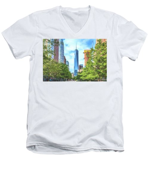 Liberty Tower Men's V-Neck T-Shirt