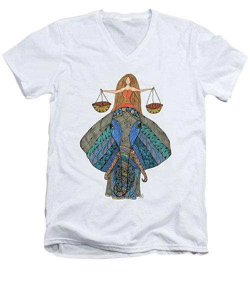 Libra Men's V-Neck T-Shirt