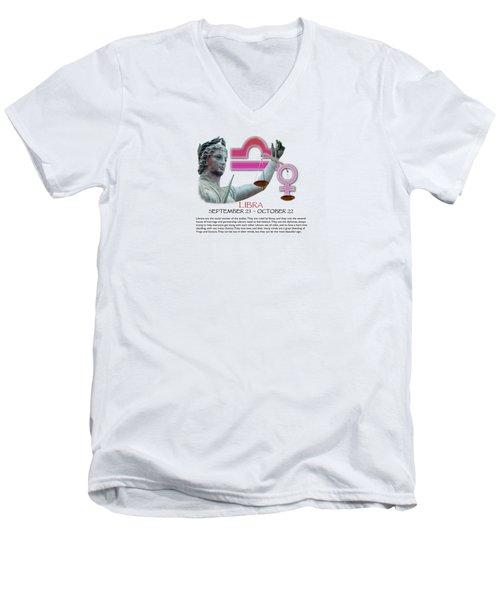 Libra Sun Sign Men's V-Neck T-Shirt