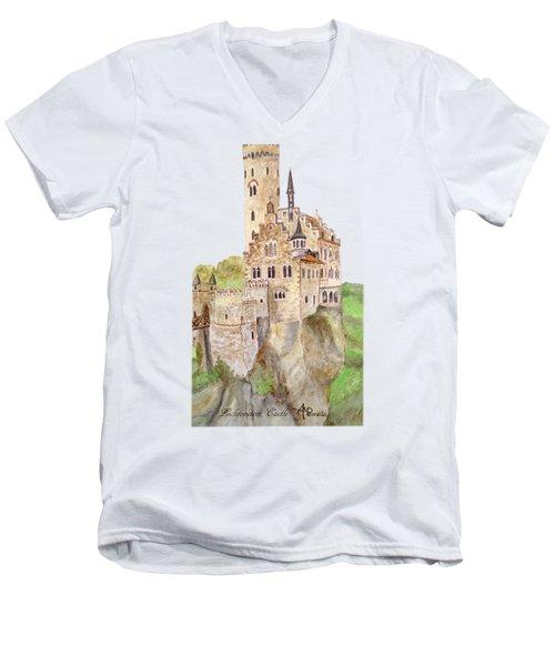 Lichtenstein Castle Men's V-Neck T-Shirt