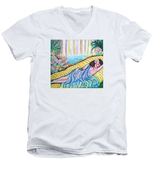 Life Doesn't Get Any Better Men's V-Neck T-Shirt by Anya Heller