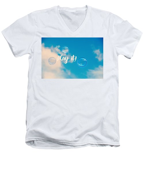 Life Is A Game Men's V-Neck T-Shirt by Robin Dickinson