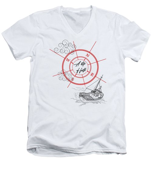 Life Is A Great Adventure Men's V-Neck T-Shirt