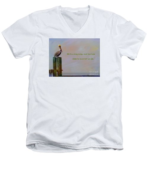 Men's V-Neck T-Shirt featuring the photograph Life Is A Long Song by John Kolenberg