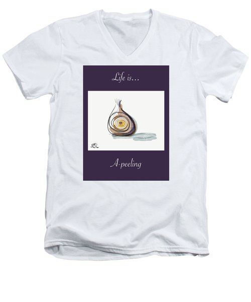 Life Is A-peeling Men's V-Neck T-Shirt by Jason Nicholas