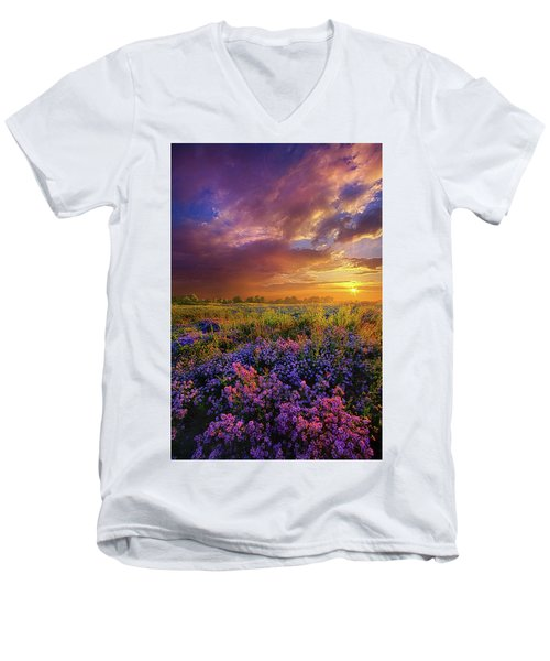 Life Is Measured In Moments Men's V-Neck T-Shirt by Phil Koch