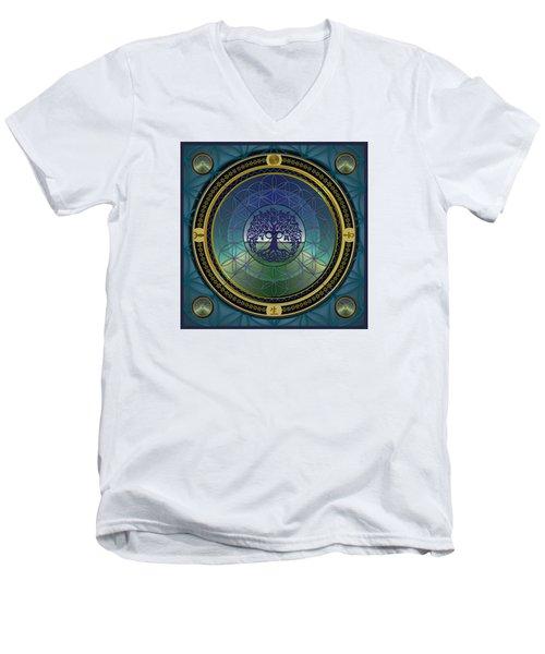 Life Mandala Men's V-Neck T-Shirt