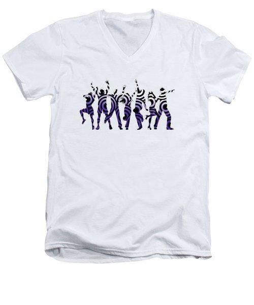 Life Of The Party Ultraviolet Men's V-Neck T-Shirt