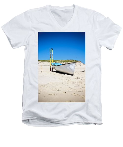 Lifeboat And Oars Men's V-Neck T-Shirt