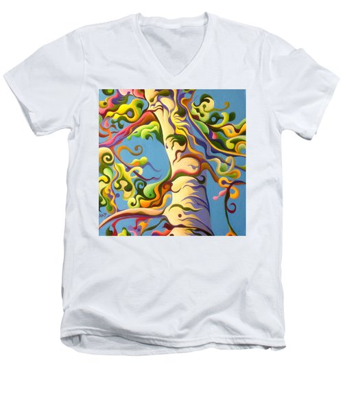 Life's A Birch Men's V-Neck T-Shirt