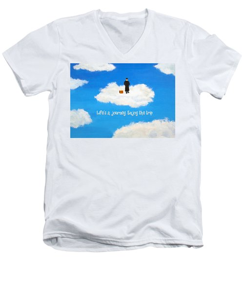 Life's A Journey Greeting Card Men's V-Neck T-Shirt
