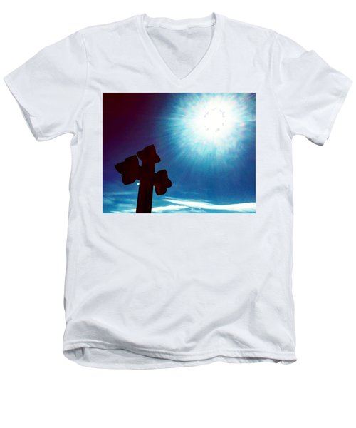 Light And Shadow Clash Men's V-Neck T-Shirt
