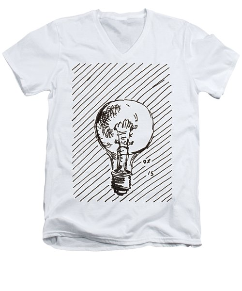 Light Bulb 1 2015 - Aceo Men's V-Neck T-Shirt