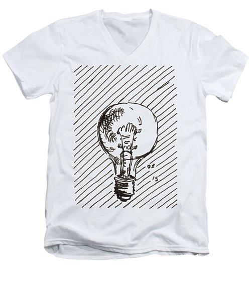 Light Bulb 1 2015 - Aceo Men's V-Neck T-Shirt
