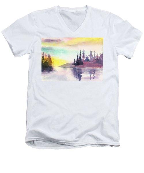 Light N River Men's V-Neck T-Shirt