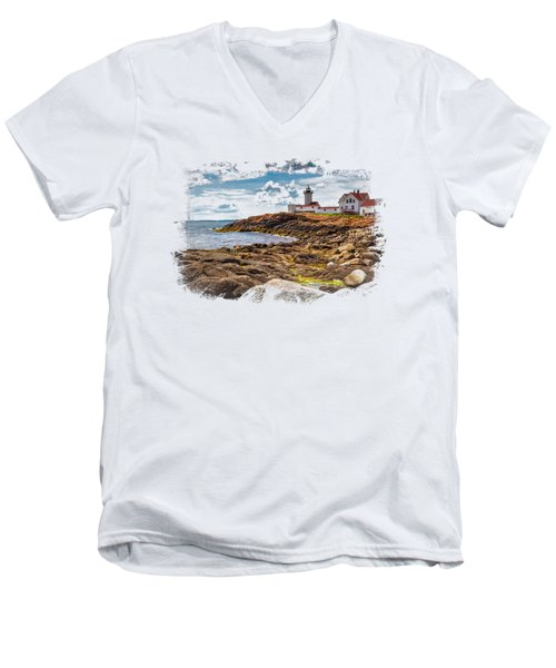 Light On The Sea Men's V-Neck T-Shirt by John M Bailey