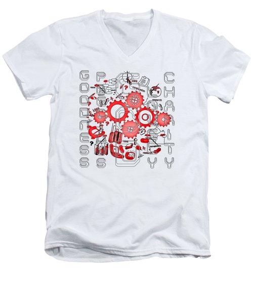 Light United Faith Men's V-Neck T-Shirt