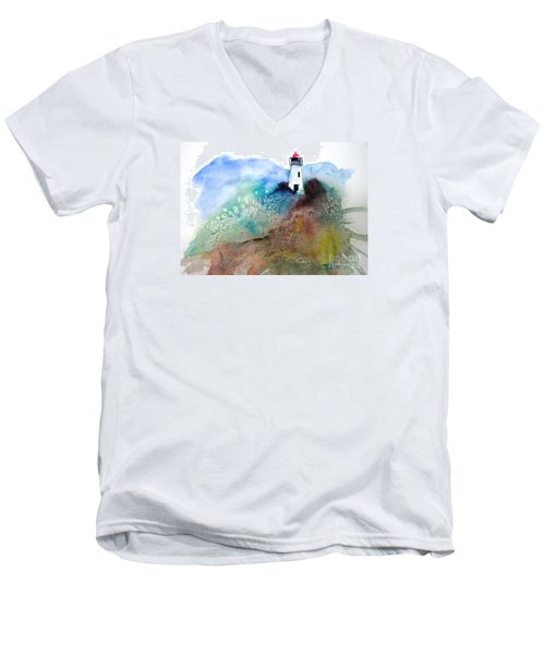 Lighthouse II - Original Sold Men's V-Neck T-Shirt